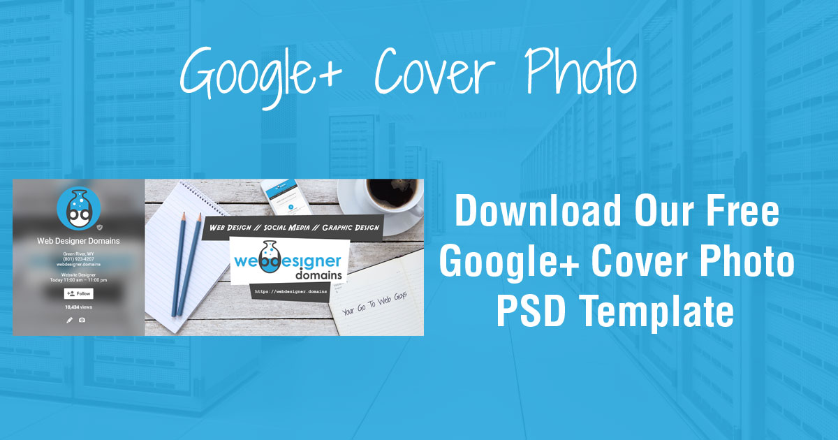 Google Plus Cover Photo PSD Template